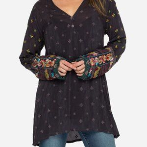 Johnny Was Simple All Over Tunic Black Size XXLP